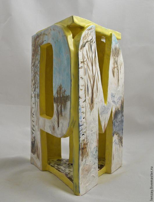 Керамический подсвечник `Март`. Керамика Елены Зайченко