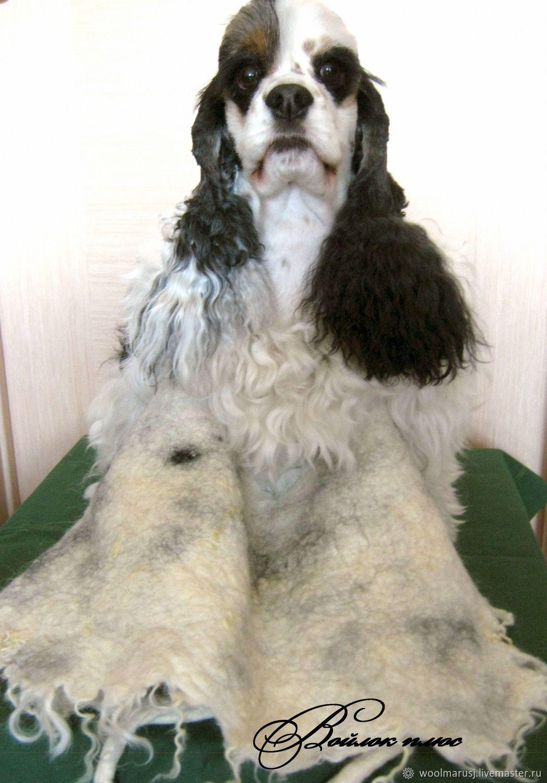Пояс валяный с собачьей шерстью Двойной эффект, Пояса, Барнаул, Фото №1