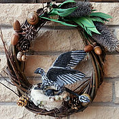 Подарки к праздникам ручной работы. Ярмарка Мастеров - ручная работа Птеро-дракон ворон Колючка в гнезде. Handmade.