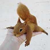 Куклы и игрушки handmade. Livemaster - original item felt toy: Squirrel interior wool sculpture.. Handmade.