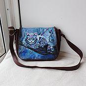 Сумки и аксессуары handmade. Livemaster - original item Women`s leather bag with custom painting for Anastasia.. Handmade.