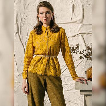 Одежда ручной работы. Ярмарка Мастеров - ручная работа Блуза из кордового кружева. Handmade.