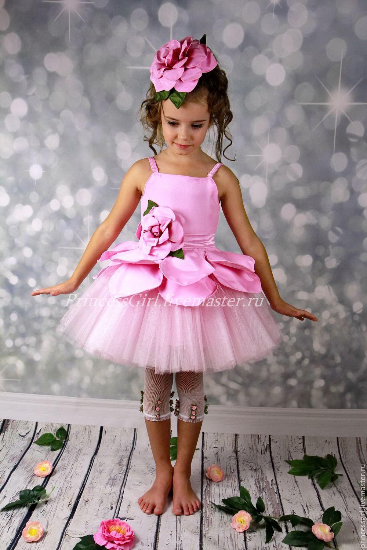 Костюм цветка для девочки из бумаги фото