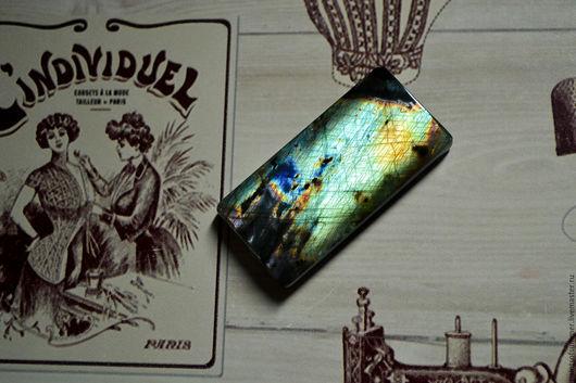Для украшений ручной работы. Ярмарка Мастеров - ручная работа. Купить Лабрадорит спектролит. Кабошон 47 Х 24 Х 6,5. Handmade.