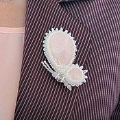 Украшения ручной работы. Ярмарка Мастеров - ручная работа Брошь-бабочка из розового кварца. Handmade.