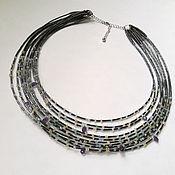 Украшения handmade. Livemaster - original item Necklace with aquamarine, opal and hematite. Handmade.