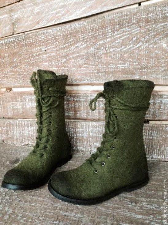 Валяные высокие ботинки ХВОИ цвет – заказать на Ярмарке Мастеров – ARCGBRU   Ботинки, Ялта