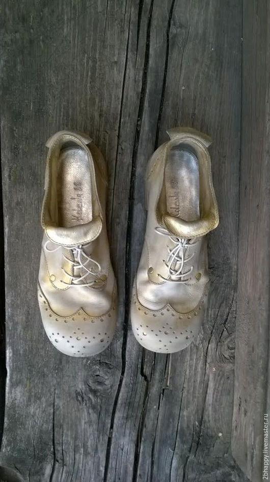 Обувь ручной работы. Ярмарка Мастеров - ручная работа. Купить Кожаные ботинки STARDUST. Handmade. Золотой, бохо-стиль