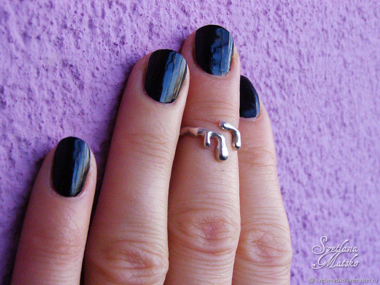 Кольцо на фалангу серебро, кольцо на мизинец из серебра, Кольца, Казань, Фото №1