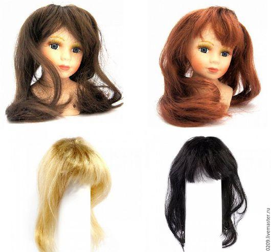 Куклы и игрушки ручной работы. Ярмарка Мастеров - ручная работа. Купить волосы прямые для кукол D10см  черный, блонд, каштан, медь. Handmade.