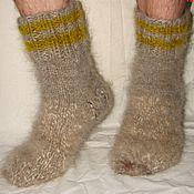 Аксессуары handmade. Livemaster - original item Socks cashmere thick art No. 56th out of dog fur .. Handmade.