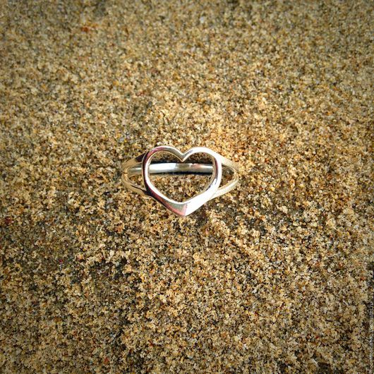 """Кольца ручной работы. Ярмарка Мастеров - ручная работа. Купить Серебряное кольцо """"Сердце"""". Handmade. Серебряный, колечко, кольцо в серебре"""