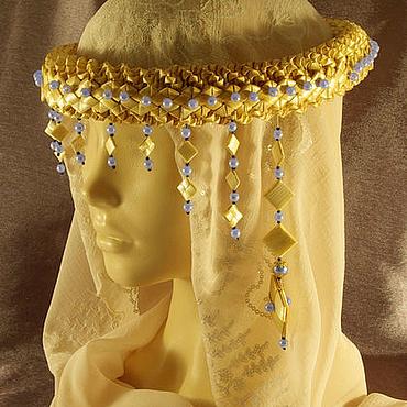 Русский стиль ручной работы. Ярмарка Мастеров - ручная работа Очелье женское  на голову из соломки. Handmade.