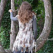 Одежда handmade. Livemaster - original item Felted vest the North woods. Handmade.