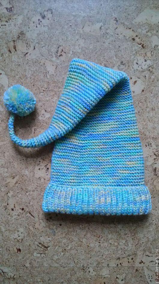 """Шапки ручной работы. Ярмарка Мастеров - ручная работа. Купить Детская вязаная шапка-колпак """"Буратино"""". Handmade. Комбинированный"""
