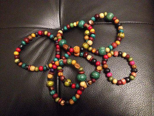 """Браслеты ручной работы. Ярмарка Мастеров - ручная работа. Купить Браслет """"Сочные цвета"""".. Handmade. Комбинированный, браслет, дерево, дерево"""