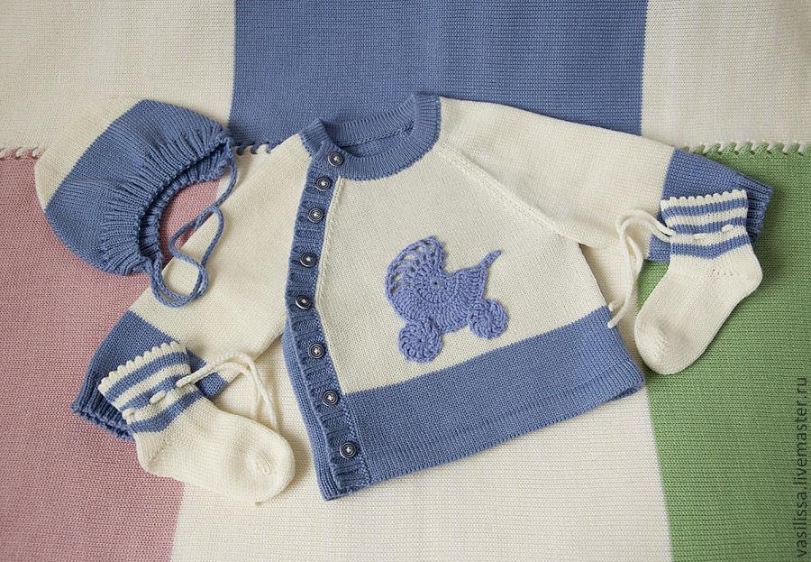 Вяжем кофты для новорожденного мальчика