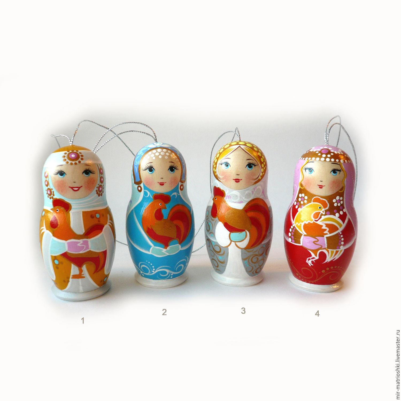 "Copy of Copy of 1 local matryoshka ""cock"" symbol of 2017, Christmas decorations, Sarov,  Фото №1"