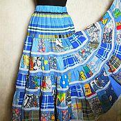 Одежда ручной работы. Ярмарка Мастеров - ручная работа Юбка длинная,лоскутная,из хлопка,на резинке. Handmade.