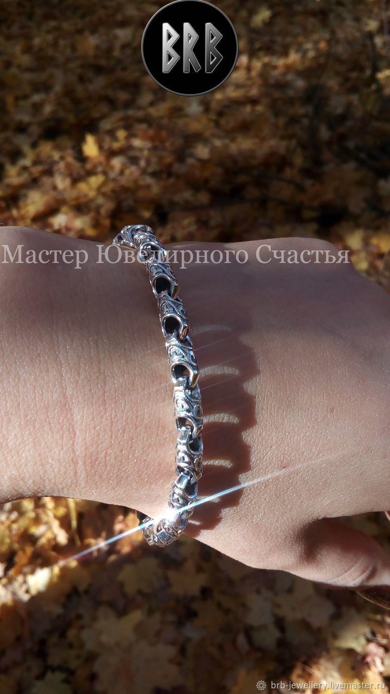 """Bracelet """"Dewdrop"""" sterling silver, Chain bracelet, Penza,  Фото №1"""