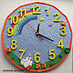 Knitted clock for children's room. Master class. Knitting patterns. rovnye petelki. My Livemaster. Фото №5