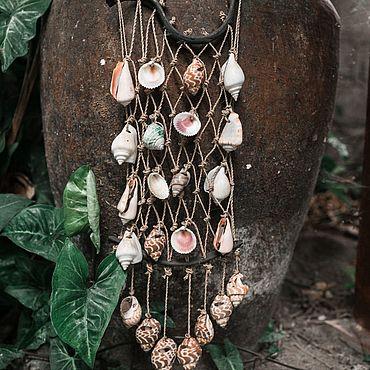 Для дома и интерьера ручной работы. Ярмарка Мастеров - ручная работа Плетёное панно  с ракушками. Handmade.