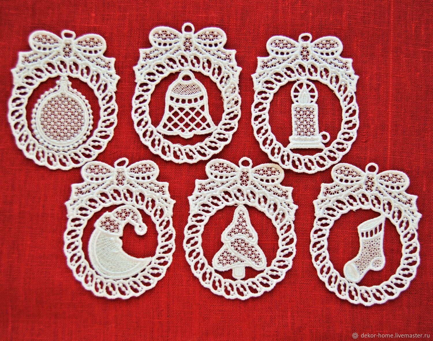Set of Christmas toys 'Christmas' 6 pieces, Christmas decorations, Moscow,  Фото №1