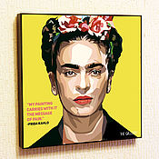 Картины и панно handmade. Livemaster - original item Painting poster of Frida Kahlo in Pop Art style. Handmade.