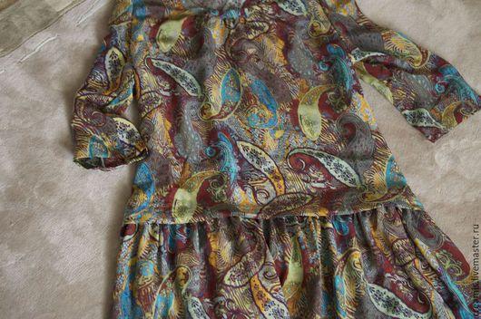 Платья ручной работы. Ярмарка Мастеров - ручная работа. Купить Летнее платье из шелка. Handmade. Разноцветный, платье, шелковое платье