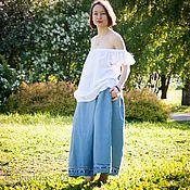 Одежда ручной работы. Ярмарка Мастеров - ручная работа Джинсовая юбка SkyBlue. Handmade.