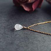 Украшения handmade. Livemaster - original item Neck chain with moonstone pendant. Handmade.