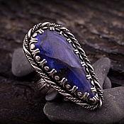 """""""Лунное дерево"""" серебряное кольцо с лабрадором"""