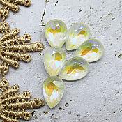 Материалы для творчества handmade. Livemaster - original item Premium 14/10 mm caramel rhinestones. Handmade.
