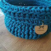 handmade. Livemaster - original item Storing jewelry: Basket made of knitted yarn transformer. Handmade.