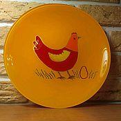 """Посуда ручной работы. Ярмарка Мастеров - ручная работа Тарелочка """"Ряба"""". Handmade."""