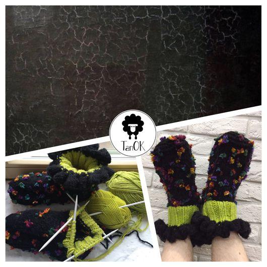 """Обувь ручной работы. Ярмарка Мастеров - ручная работа. Купить Что скрывается в """"Черном квадрате"""" К.Малевича? Зелень и радужные цветы. Handmade."""