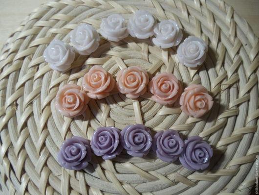 Для украшений ручной работы. Ярмарка Мастеров - ручная работа. Купить Бусины розы из прессованного коралла-16мм. Handmade. Комбинированный