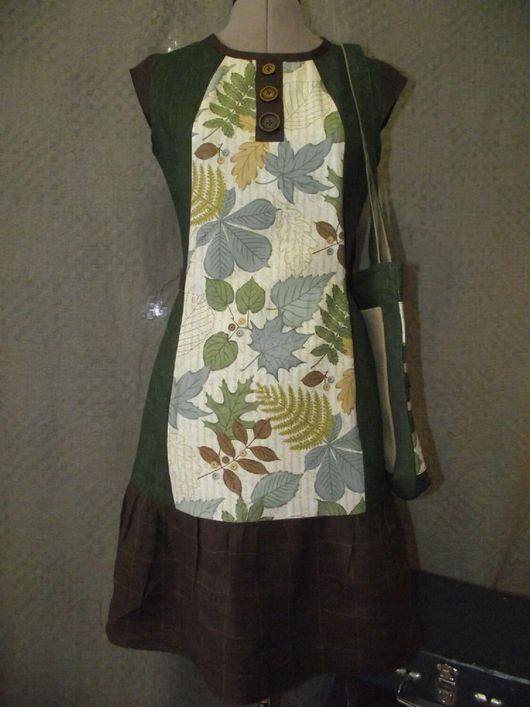 Юбки ручной работы. Ярмарка Мастеров - ручная работа. Купить Лесное. Handmade. Платье, платье для девочки, льняное платье, листья