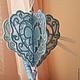 Подарки для влюбленных ручной работы. Ярмарка Мастеров - ручная работа. Купить 3d голубое сердце - валентинка. Handmade. Голубой, подарок