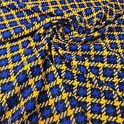 Материалы для творчества handmade. Livemaster - original item Fabric: Tweed wool Gucci blue and yellow. Handmade.