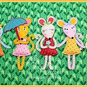 """Для дома и интерьера ручной работы. Ярмарка Мастеров - ручная работа Имена из фетра. """"Мышки-малышки"""". Handmade."""