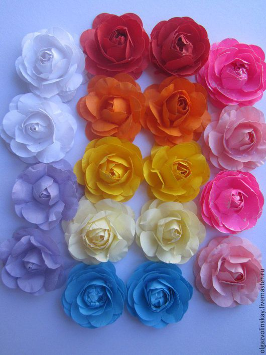 Цветы ручной работы. Ярмарка Мастеров - ручная работа. Купить розы ручной работы. Handmade. Ярко-красный, картон дизайнерский