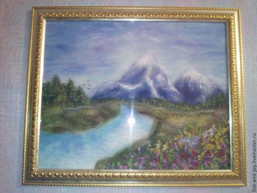 Картина из шерсти под стекло Идиллия