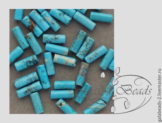 Для украшений ручной работы. Ярмарка Мастеров - ручная работа. Купить Магнезит натуральный тонированный бирюза имитация нить  021. Handmade.