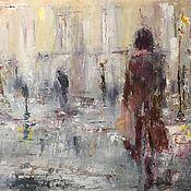Картины и панно handmade. Livemaster - original item Urban history. Rain. Handmade.