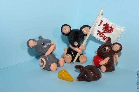 Мышки из полимерной глины