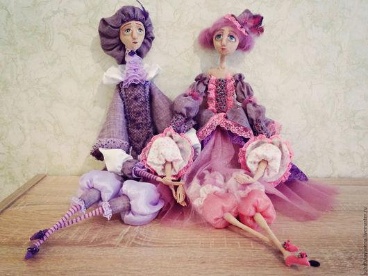 Коллекционные куклы ручной работы. Ярмарка Мастеров - ручная работа. Купить Будуарные куклы для интерьера. Handmade. Розовый, подарок