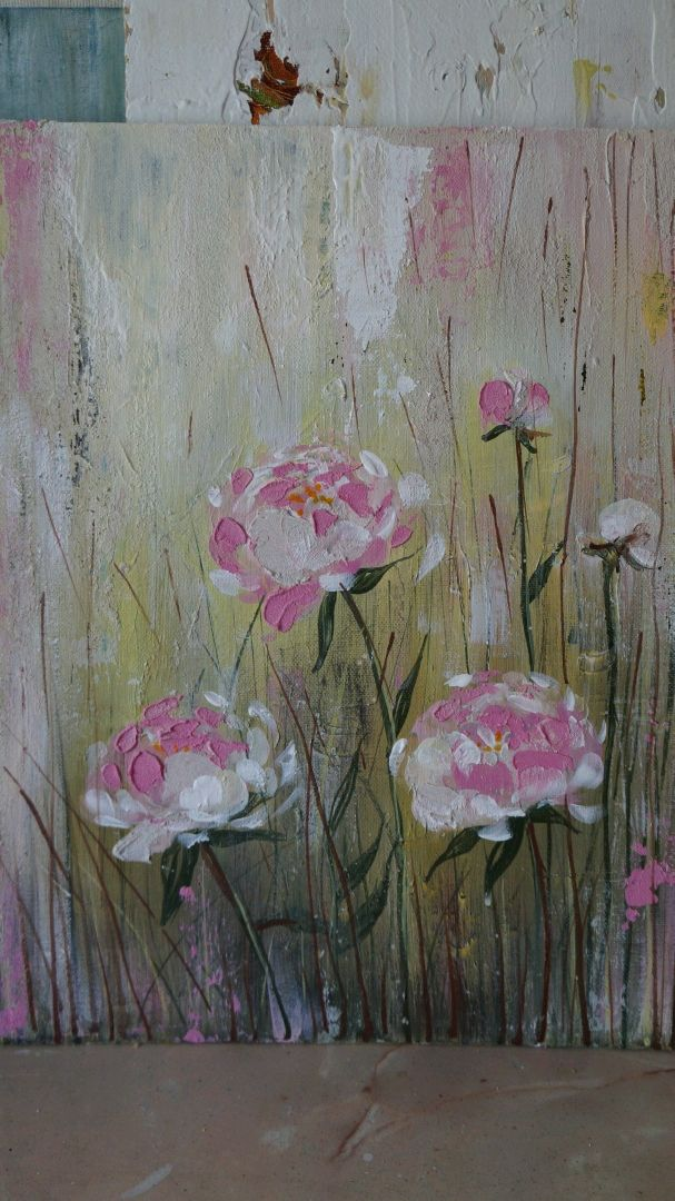 Painting for interior ' Peonies', Pictures, Kemerovo,  Фото №1