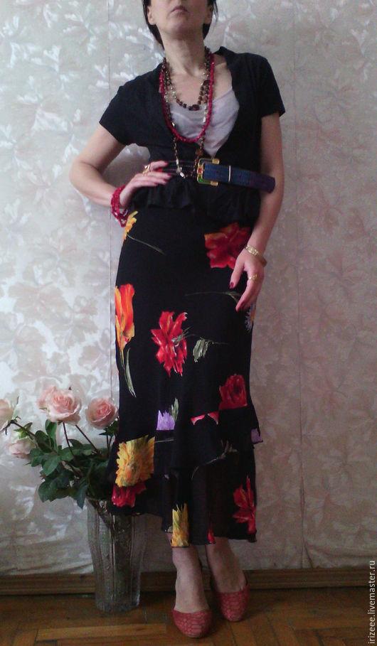 Юбки ручной работы. Ярмарка Мастеров - ручная работа. Купить юбка ассиметричная Spain. Handmade. Черный, юбка длинная