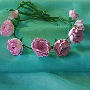 Диадемы ручной работы. Ярмарка Мастеров - ручная работа Веночек с цветами сакуры. Handmade.